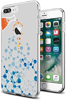 Cocomong Funny Clear Chemistry Lab Chemical Protective Slim iPhone Case for iPhone 7P/8P 5.5 Inch for Women Girls Men