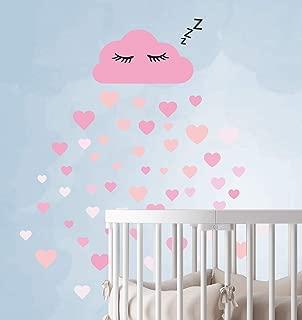 adhesivo de papel tapiz para beb/és pegatinas de pared de nubes de 20 piezas blanco Mural colores pastel ni/ños peque/ños adhesivo de pared Decoraci/ón de la pared del ojo so/ñoliento
