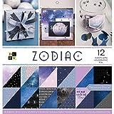 DCWV Card Stock 12'X12' Zodiac Premium Printed Cardstock Stack