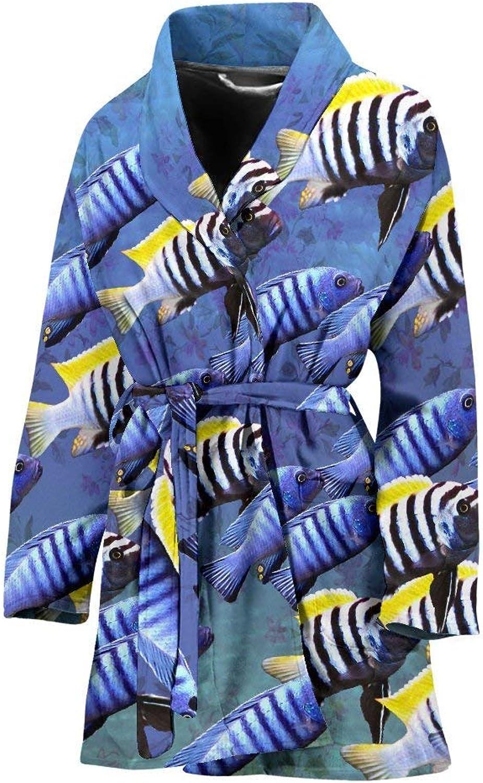 Deruj Cynotilapia Afra Fish Print Women's Bath Robe