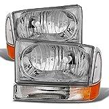 ACANII - For 1999-2004 F250 F350 F450 Superduty Excursion Headlights Corner Lights Driver + Passenger Side
