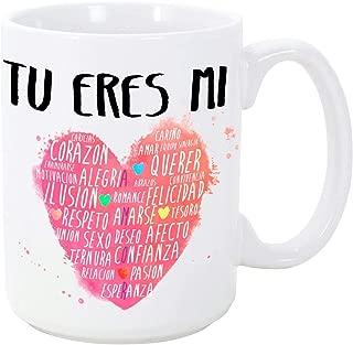 MUGFFINS Taza para Regalar a Enamorados/San Valentín - Tú Eres mi corazón – cerámica 350 ml - Tazas con Frases de Regalo para Novios/Novias. Aniversarios