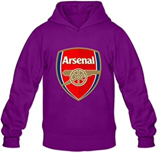 Men's Arsenal Fc Logo Long Sleeve Hoodies Sweatshirt Black Custom By Rahk