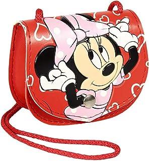 Disney Minnie Mouse Borsa per Bambina, Borsa Mini a Tracolla per Bambini, Design Unico, Borsa per Ragazze, Regalo di Compl...