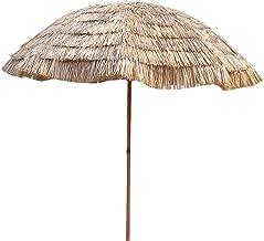 OWUV Parasol Parasol Paraplu | Oppervlaktediameter 2.4m | Simulatie Stro Paraplu Voor Tuin/Balkon/Terras/Binnenplaats | Ho...