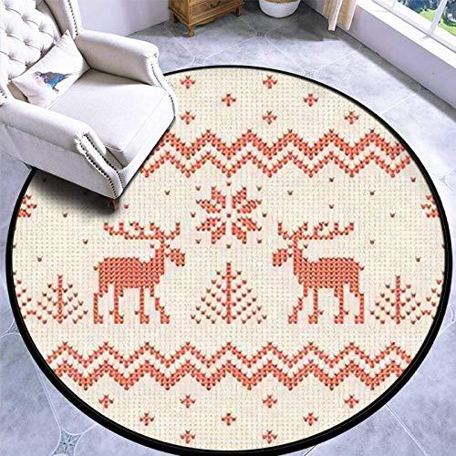 60cm Runder Teppich Teppich Spielmatte Rutschfester Hässlicher Pullover Frohe Weihnachten und EIN gutes neues Jahr Grußkarte Rahmen Boden Teppich Türmatte
