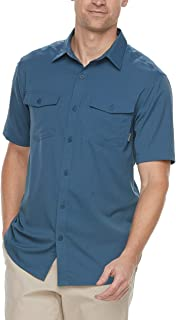 Men's Omni-Wick Button-Down Shirt,Whale,Large