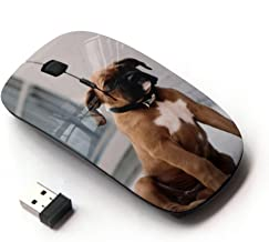KOOLmouse [ Optical 2.4G Wireless Mouse ] [ Boxer Breed Dog Brown Fur Puppy ]