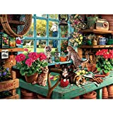 POOPHUNS Puzzle 1000 Piezas,Puzzle 1000 Piezas Adultos,Rompecabezas de cartón, Puzzle Educational Game Juguete para aliviar estrés Juego Intelectual,Juegos Familiares(Gato alféizar de la Ventana)