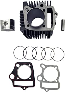 KDSG 52.4mm Cast Iron Cylinder Kit for 125cc 4 Stroke Engine ATV UTV Moped Quad Dirt Bike Go Kart Scooter Taotao Kazuma Redcat
