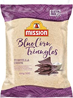 Mission Tortilla Triangles, Blue Corn Chips, 200g