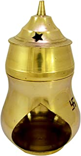 Amazingindiaonline Vastu/Feng Shui Brass Aroma Incense Burner Camphor Lamp/Kapur Lamp/Magic Lamp/Oil Burner/Oil Diffuser