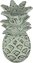 Chesapeake Bay LTD. Distressed White Carved Wood Tropical Pineapple Decor Statue