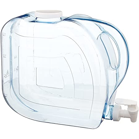 Arrow Home Products Ultra Beverage Dispenser, 2-Gallon,Clear-White Top/Spigot