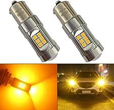 HSUN BAU15S PY21W 1056 Bombillas LED, sistema Canbus integrado sin errores con 30 chipsets SMD3030 extremadamente brillantes para luces de señal de giro LED de coche, 2 piezas, ámbar / naranja