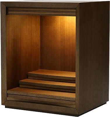 扉なしミニ仏壇 「ワルツ」 14号 本体のみ ウォールナット 突板 高さ42.5cm 14号W