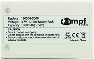 MPF Products High Capacity Extended 1000mAh R-IG7 Battery Replacement Compatible with Logitech Harmony 720, 850, 880, 885, 890 Pro, H880 & Harmony One Advanced Remotes 190304-2000 NTA2340