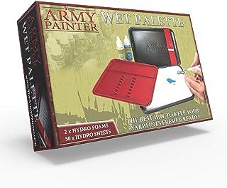 The Army Painter   The Wet Palette   Palette de Tri de Pinceaux de Première Qualité avec 50 Lingettess et 2 Éponges pour P...