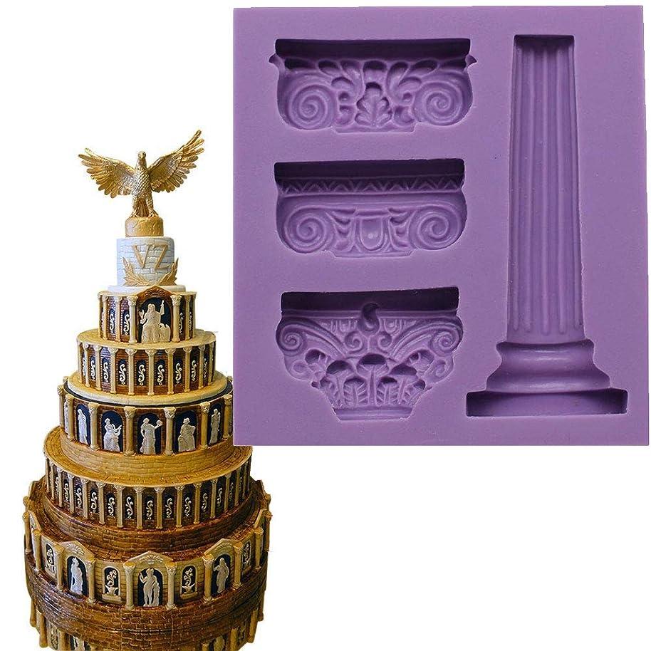 Anyana 3D Roman Column Greek marble Pillar mould cake Fondant gum paste mold for Sugar paste gumpaste cupcake decorating topper decoration sugarcraft sugar biscuit decor