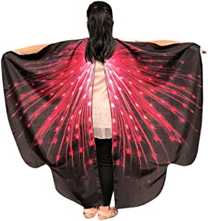 JOFOW Children Halloween Carnival Costume Butterfly Wings Gradient Party Festival Props Accessory