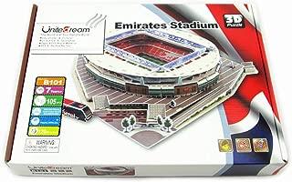 Kw-tool Arsenal Emirates Stadium 3D Puzzle Model, World Football Field DIY Puzzle, Educational Toys