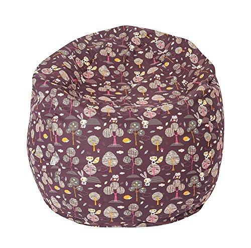 Joyfill Sitzsack mit Bezug, Stuhl für Kinder und Erwachsene, Weicher Stoff, 240L groß - 597 Forest lila