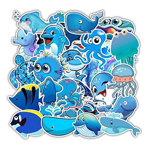 LYDP 50 pegatinas de grafiti azules para portátil, vasos de agua, pegatinas impermeables