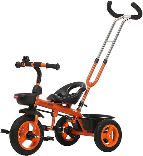 Dreirad Kinder Trike Dreirad fürrad Baby Trolley Kind Auto Bike 3 R r 1-3 Jahre alt Kinder ( Farbe   Orange )