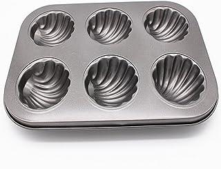 BESTonZON Madeleine - Stampo da forno con rivestimento antiaderente, 6 zampe di orso, colore: Grigio