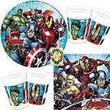 HHO Avengers Mighty 36tlg. für 8 Kinder Teller Becher Servietten