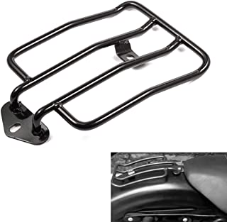 PBYMT Rear Solo Seat Luggage Rack Standard Luggage Fender Shelf Rack 180mm (7) Compatible for Harley XL Sportsters Iron 48 883 XL1200 2004-2018 (Black)
