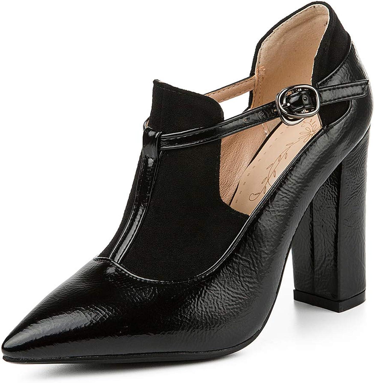 DoraTasia Women' s Summer Cozy Sandals High Heel Pointed Toe Sweet Pumps