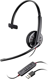 Plantronics Blackwire 320 USB Headset, On-Ear Mono Headset, Wired