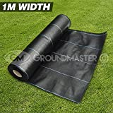 GroundMaster 1m x 10m Heavy Duty Weed Control Fabric Ground Cover Membrane