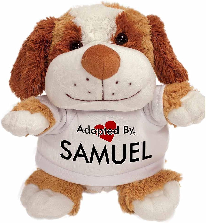 AdoptedBy TB2Samuel Peluche Cane Orsac otto con Un Nome Stampato t-Shirt
