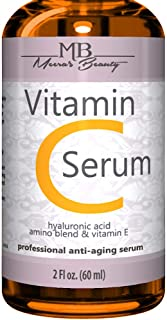 DOUBLE SIZED (2 oz) PURE VITAMIN C SERUM FOR FACE 20% With Hyaluronic Acid - Anti Wrinkle, Anti Aging, Dark Circles, Age S...