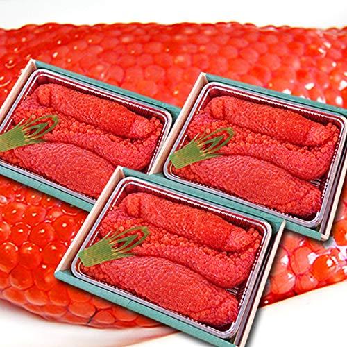 魚水島 北海道〜岩手産 生筋子(生いくら)季節限定「ずっしり大粒 生すじこ」 3kg