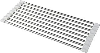 レック 抗菌 たためる シンク 水切り スライドラック (伸縮タイプ) 幅40~60cm KK00101
