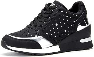 Heel Wedge Walking Sneaker for Women - Casual Lace up Sneaker for Women, Best Chioce for Casual and Daily Wear