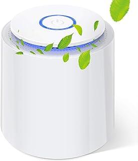 Mini Purificador de Aire con Filtro HEPA Verdadero Purificadores de Escritorio Portátiles con Función de Aromaterapia, Luz...