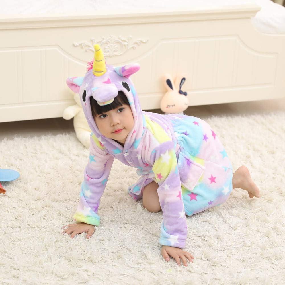 Unicornio De Dibujos Animados Pijamas para Ni/ños Albornoz Albornoces con Capucha para Ni/ños Ropa De Dormir Albornoces De Animales Animales para Ni/ñas Y Ni/ños Ni/ños