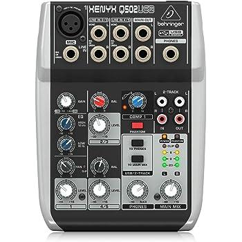 Behringer Xenyx Q502USB プレミアム 5入力 2バスミキサー USB/オーディオインターフェース付き