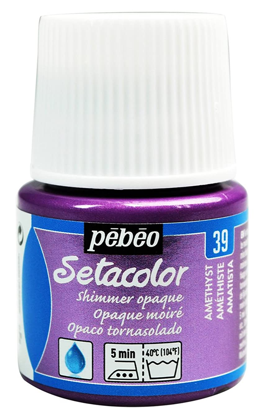 Pebeo Setacolor Opaque Fabric Paint 45-Milliliter Bottle, Shimmer Amethyst