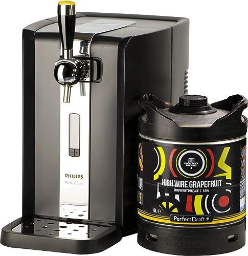 PerfectDraft Tireuse à Bière et 1 fût 6L Bière Premium - 5 euros de consigne inclus - Idée cadeau (Magic Rock High Wi...