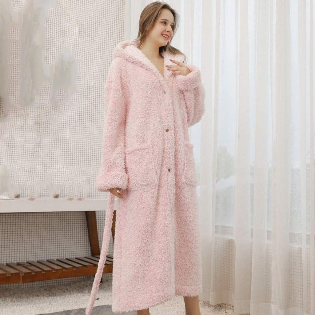 Limited price supreme LXDWJ Male Women Thickened and Nightgown Autumn Lengthened W