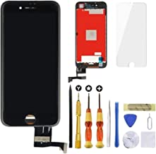 for Black iPhone 7 Screen Replacement USlansis 3D Touch Screen Glass Digitizer Frame Assembly with Tempered Glass Screen Protector + Repair Tools + Instruction