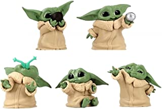 5 Packs Baby Yoda The Child Collectible Toys Ball Toy Figure for Baby The Mandalorian Baby Yoda Christmas Ornament Gifts f...