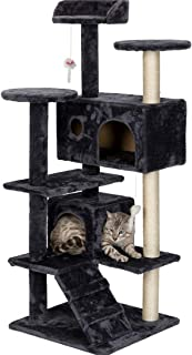 PEAKSEN Cat Tree Condo Multi-Level Kitty Play House Activity Centre Pet Furniture and Climbing Tools