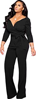 Sexy Jumpsuits for Women Elegant Plus Size Long Sleeve...