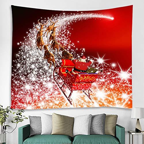 nobranded Santa Claus Schlitten Wandteppiche Stoff Wandbehang Schlafzimmer Wohnheim Kopfteil Wandteppich Home Decor Wandbehang